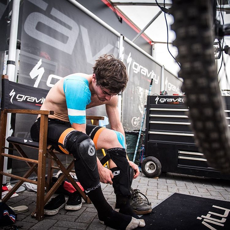 Suit up! @loicbruni29 deep in the @teamspecializedgravity pits getting set for an epic day on the hill. #SixSixOne... Protection for your passion! #661Protection #RageKnee #EvoShort #Padlock #SuperBruni  Photo @davetrumporephoto
