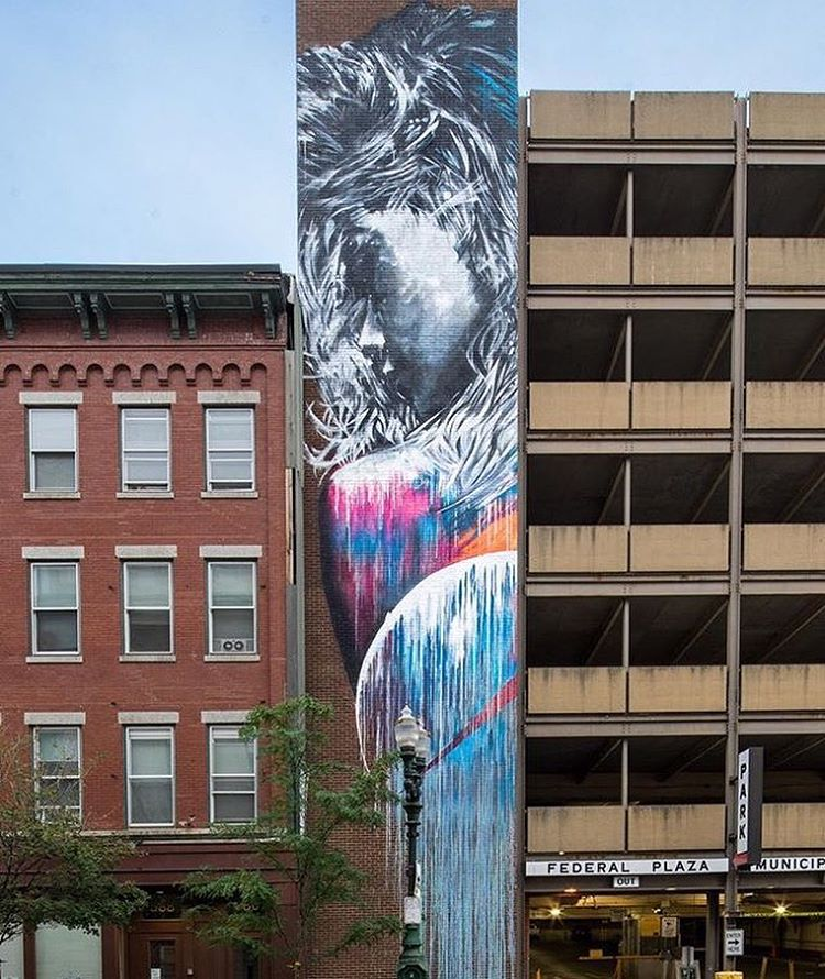 Mural by @starfightera at Pow! Wow! Worcester • Photo by: @mrjasperwong • SprATX was proud to sponsor along side: @powwowworldwide @powwowworcester @1xrun @monsterenergy @actionwoo @worcesterwares @worcestermagazine @thegriddistrict @homedepot...