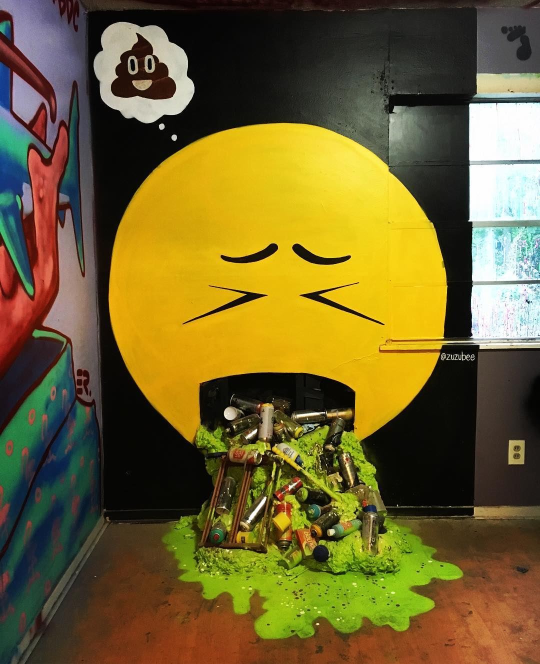 "@zuzubee puke emoji for #extremehometakeover • • A huge ""Thank You"" to all of you that came through today!! You are beautiful! • • And now we shall post the pieces that you didn't see if you didn't make it out... #atx #austintx #texas #tx #spratx #zuzu..."