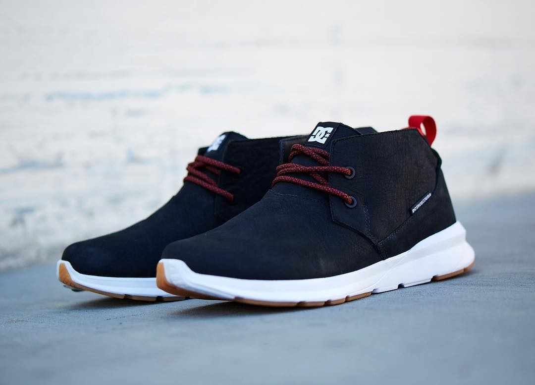New from our Fall collection is the Ashlar Le Mid-Top featuring Unilite technology making it as comfortable as it sleek. Get a pair at: dcshoes.com. #dcshoes