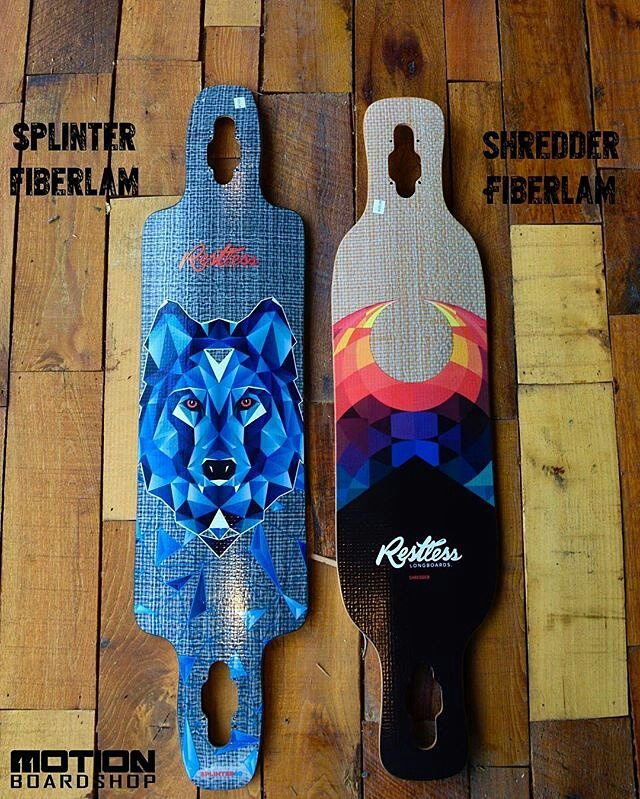 #Repost @motionboardshop ・・・ Looking to get your freestyle, carving, and/or soul surfing on? The Splinter Fiberlam and Shredder Fiberlam from @restlessboards got what you need. #motionboardshop #mobo #resltesslongboards #splinter #shredder...