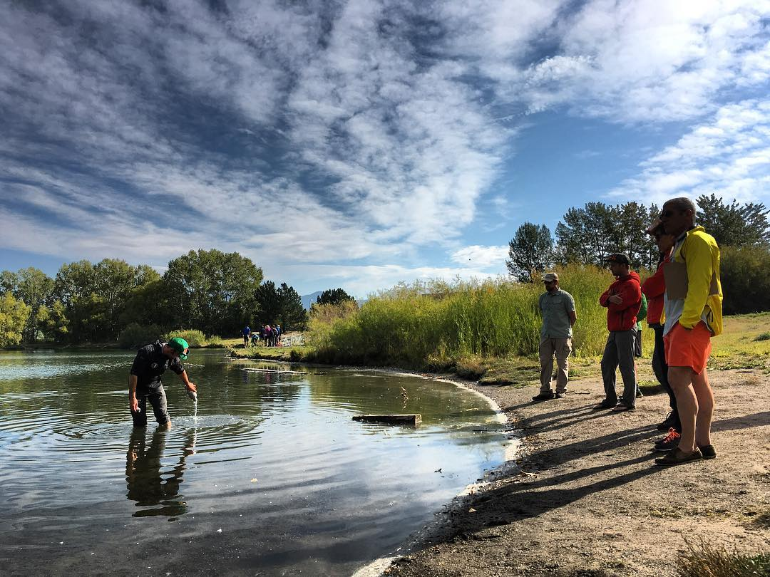 Mike Kautz training a new crew for our Gallatin Microplastics Initiative today at #bozeman pond. . In its second year, #ASCGallatinMicroplastics is an unparalleled project  documenting the presence of #microplastics across an entire watershed. Learn...