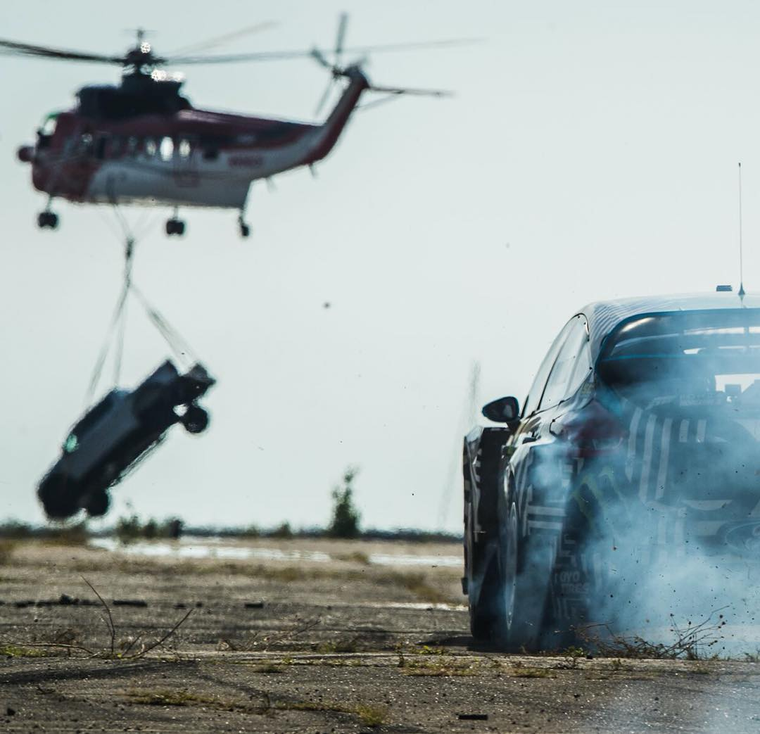 TUESDAY! HHIC @kblock43 takes his Ford Focus RS RX off the track and onto the streets for the first time! Raw action, expensive stunts and flat out danger. #likelessthan2days #GymkhanaNINE