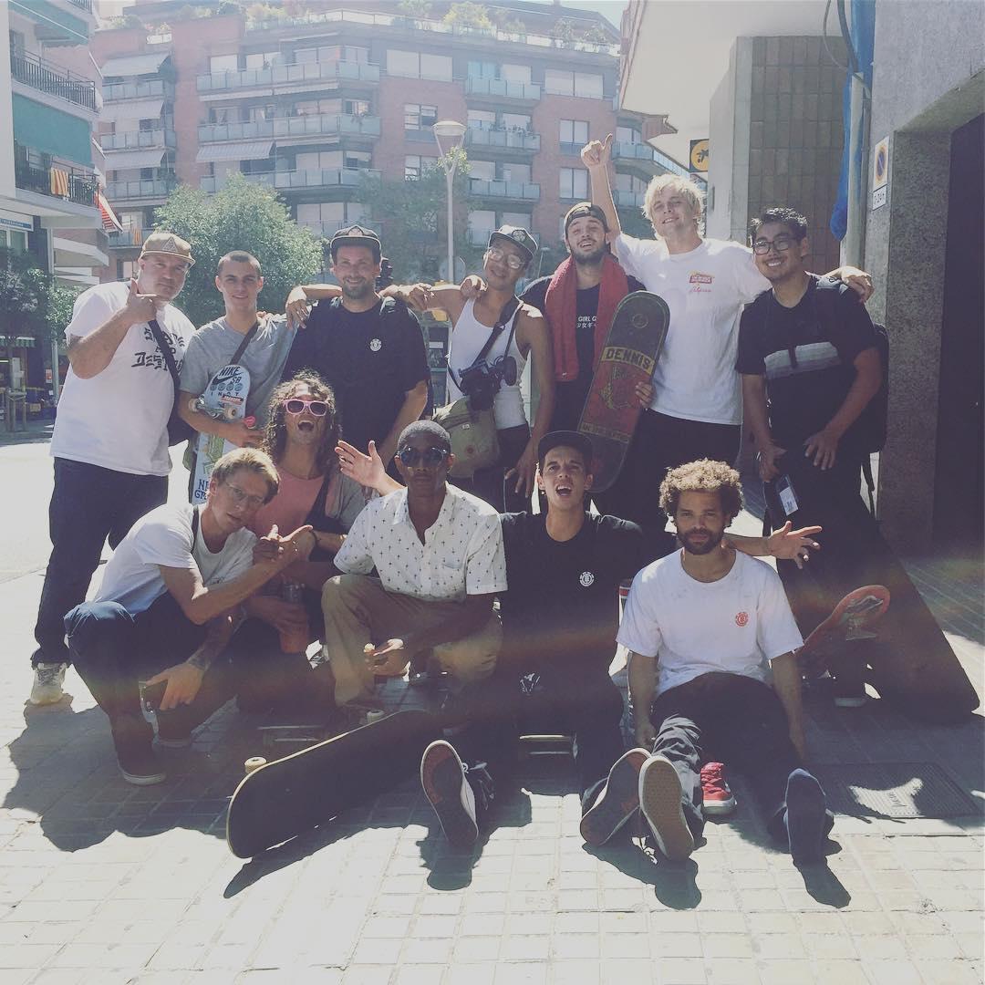 Proper squad out in Barcelona! @photojoebrook @masonsilva @colemathews @davehoang @jakedarwen @madarsapse @ryanree @nick_garcia @starheadbody @domowaka @alex_lawton @nassimguammaz @westgatebrandon @dennisdurrant #elementskyteam #barcelement