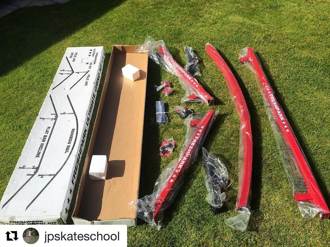 #Repost @jpskateschool Down to the last piece of the puzzle! Been feeling like a kid at Christmas the last few days building together all the radness from @freshpark