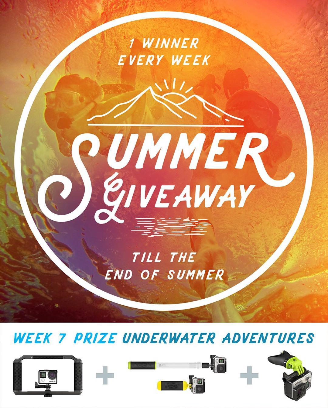 Congrats to week 6 winner, Walter Pickering from York Harbor, ME. GoPole Summer Giveaway week 7 prize - Underwater Adventures. No purchase necessary, enter once or enter every day to increase your changes of winning. Enter now by clicking the link in...
