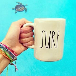 Monday necessities!! #coffee #pickmeup #mondays #surf #beachjewelry #seaturtle