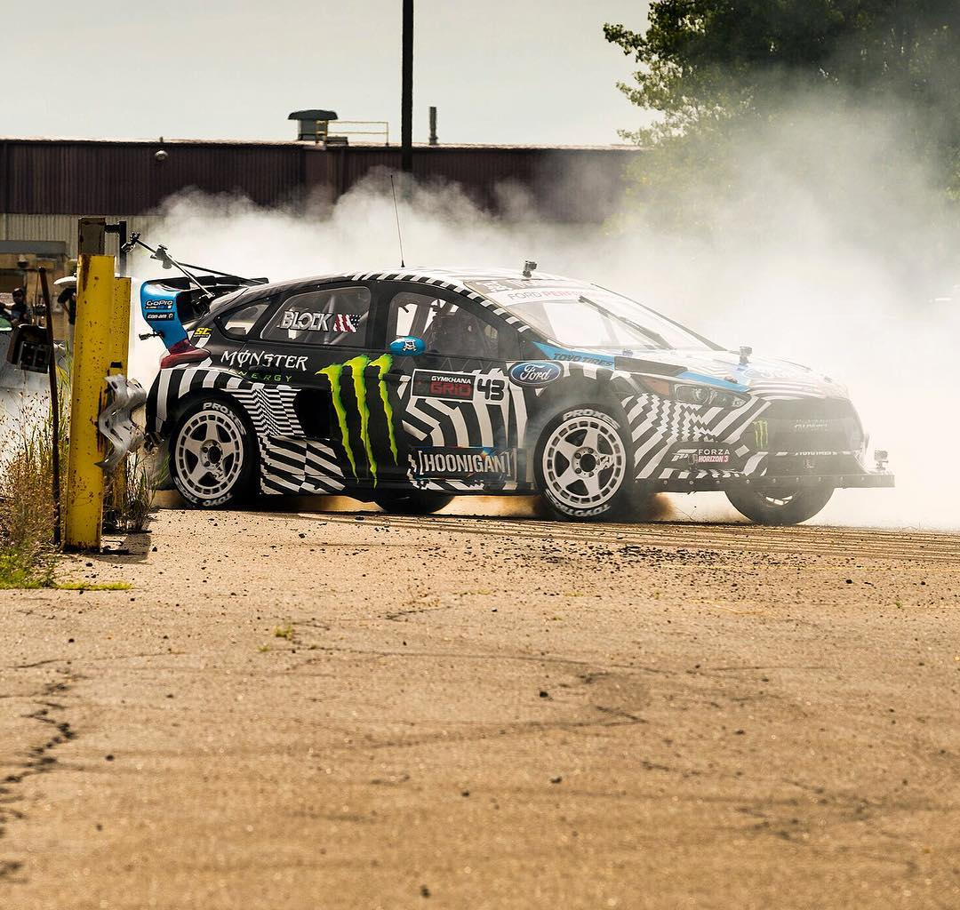 Less than 12 hours left until Gymkhana NINE launches. Going live September 13th at 8AM EST on the Hoonigan YouTube channel. Close calls, freight trains, airborne Ford Raptors, and more! #GymkhanaNINE #railslide