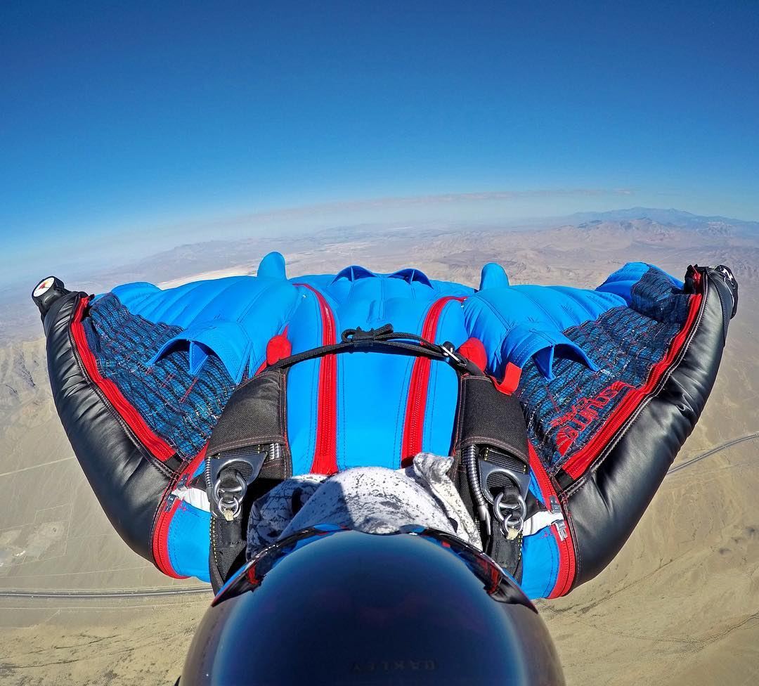@savagesac wingsuit flyin' over Nevada. Shot with GoPro HERO4 & GoPole Arm. #gopro #gopole #gopolearm #wingsuit #skydiving