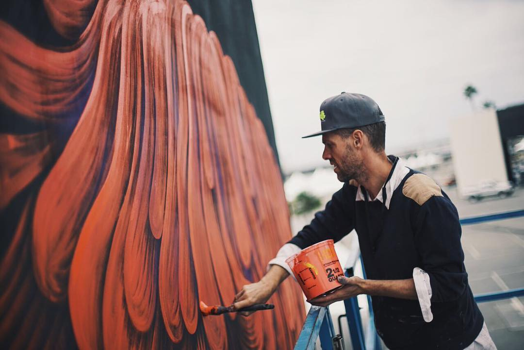 Follow along later this week as we head to @kaaboodelmar ✈️ Until we get there enjoy some photos of what is already happening now with our good friends @seawalls_ • • Canadian artist @robotkin going up on his mural at @kaaboodelmar in Del Mar,...