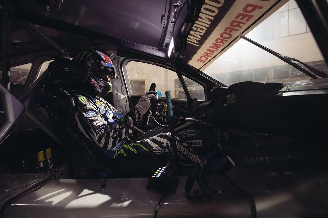 GymkhanaNINE: watch HHIC @kblock43 pilot the Ford Focus RS RX on public tarmac for the first time ever! Link in bio  #GymkhanaNINE