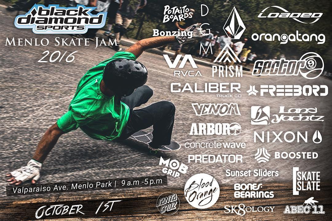 we are super stoked to be sponsoring and sending riders to the Menlo Park Slide Jam next month in NorCal. if you're in the area come check it out!