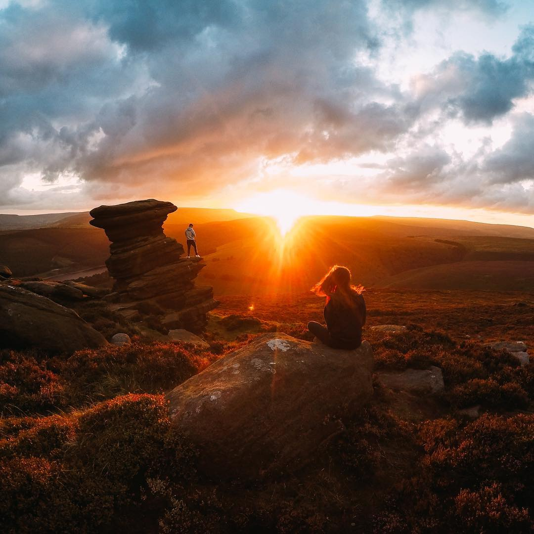 Photo of the Day! @b.christie_ checking in with a banger #sunset at the #SaltCellar in the #PeakDistrict. #GoPro #Derbyshire #GreatBritain