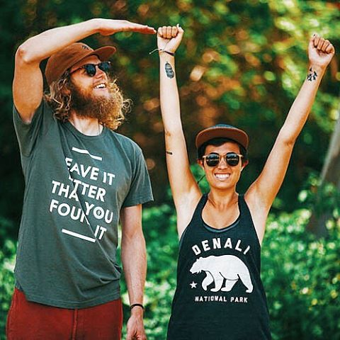 #RADPARKS Together we can help preserve our favorite outdoor spaces. Featuring our Leave It Better Tee & Denali Bear Racerback. Go get 'em! #findyourpark #nps