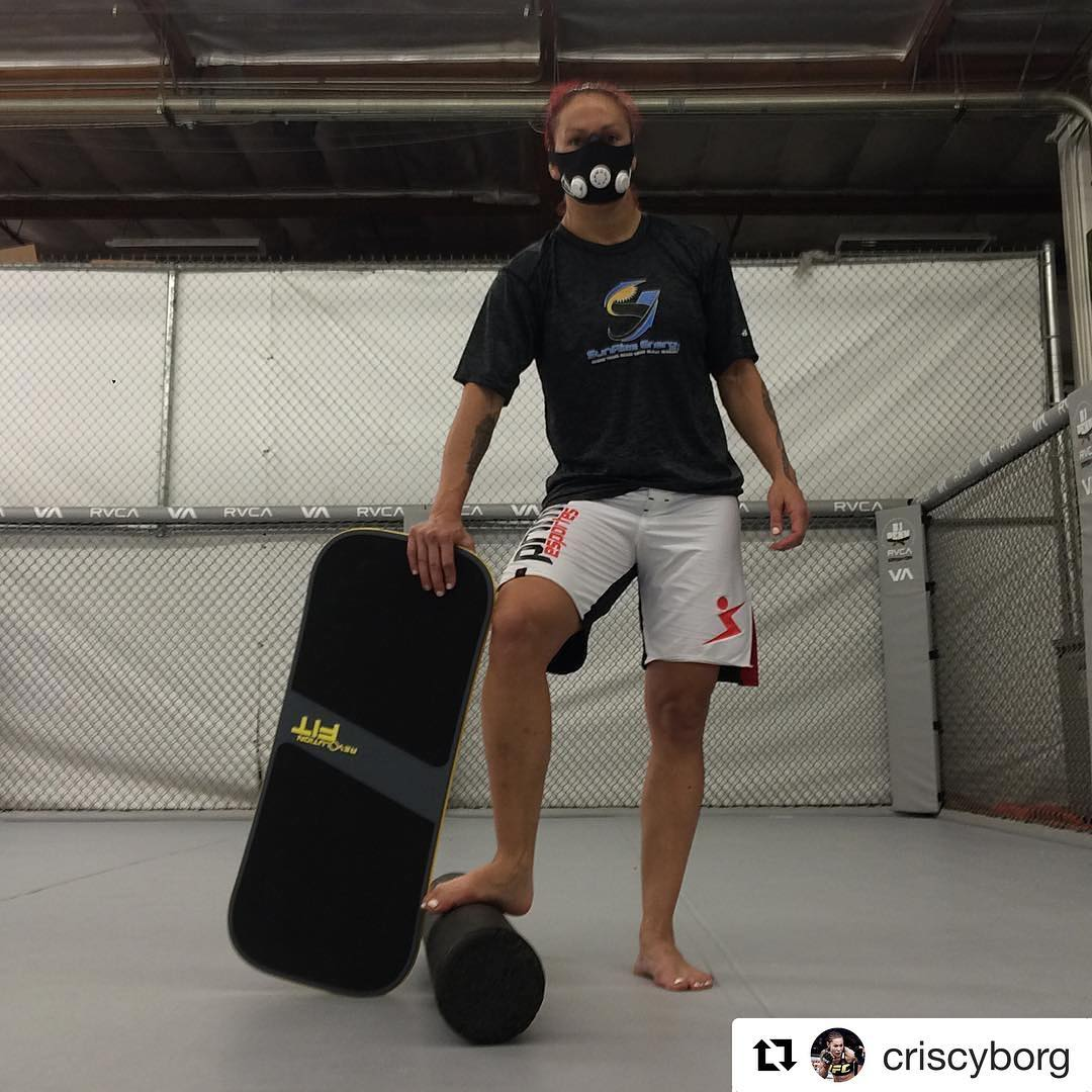 Want to train like MMA superstar @criscyborg ? Follow @revbalance_fitness for cool workout tips with your balance board