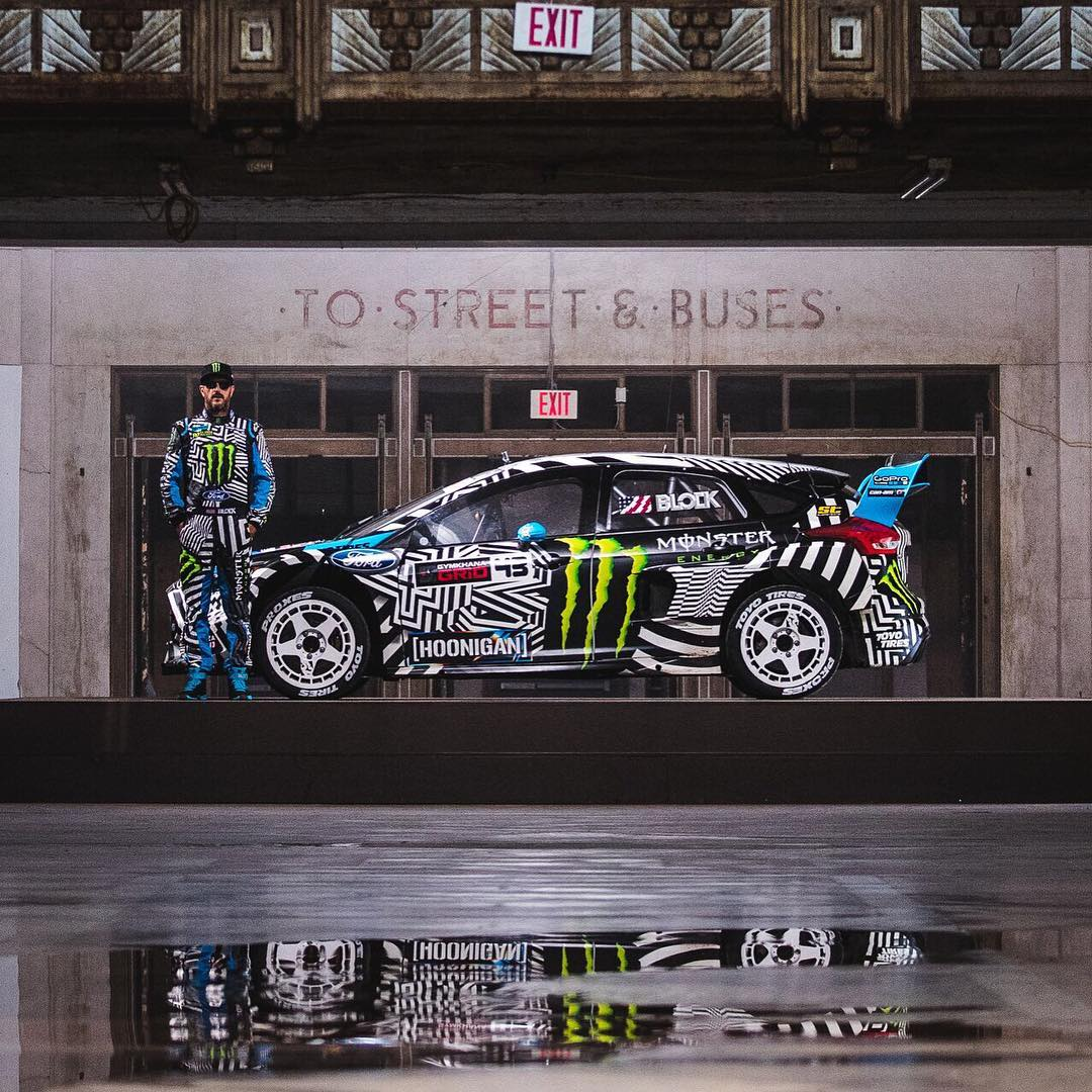 Who already watched #GymkhanaNINE? HHIC @kblock43 and his Ford Focus RS RX! (Link in bio) #hoonigan