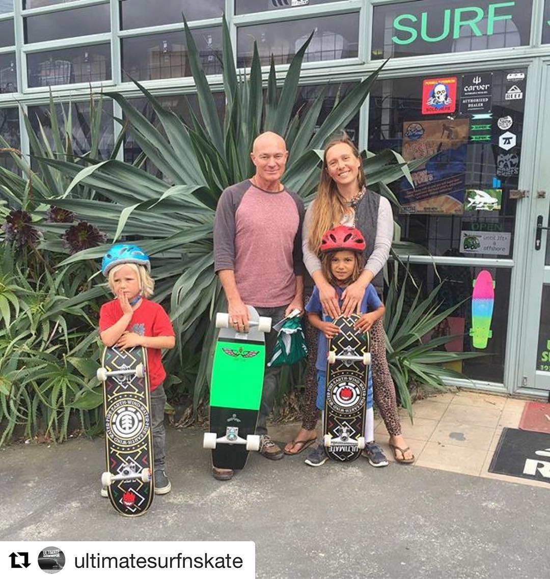 #Repost @ultimatesurfnskate with @repostapp ・・・ This awesome family just stopped in from Mangawhai and set themselves up with some skateboards for the Mangawhai skate park. They also happen to have an organic farm and wellness retreat called...