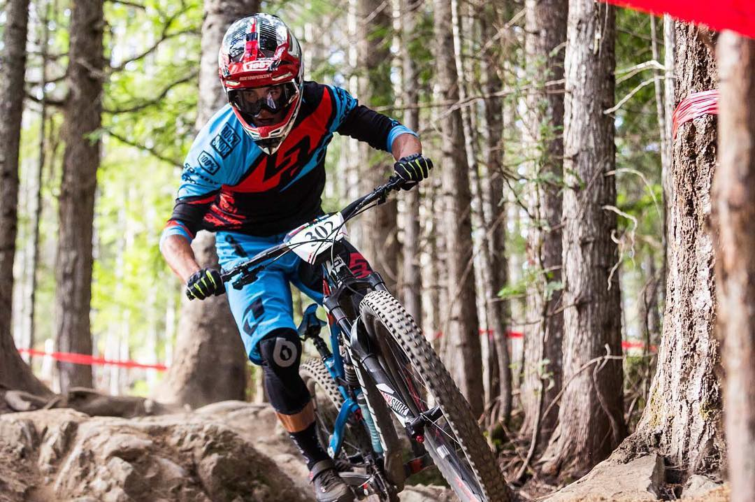 Adrien Dailly fully pinned out in Whistler! With the sixth round of the @world_enduro coming up this weekend we take a look back at all the team @lapierrebikes action from the last round >> www.sixsixone.com Photo - @illprod #SixSixOne #661Protection...