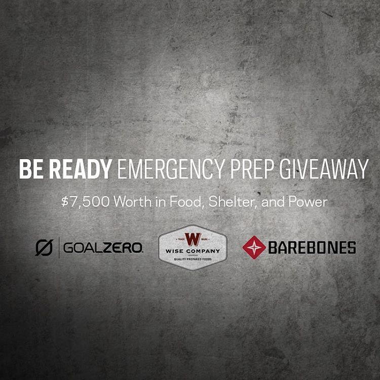 September is Emergency Preparedness Month and to help raise awareness we've partnered with Barebones Living and Wise Food Storage. We're giving away a pile of gear worth over $7,500 in food, shelter and power. Winner announced September 29th. Follow...