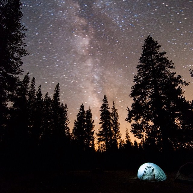 Camping season is here! Grab your flask, some friends, and go explore! ⛺️ #firewaterfriends #camping #stars