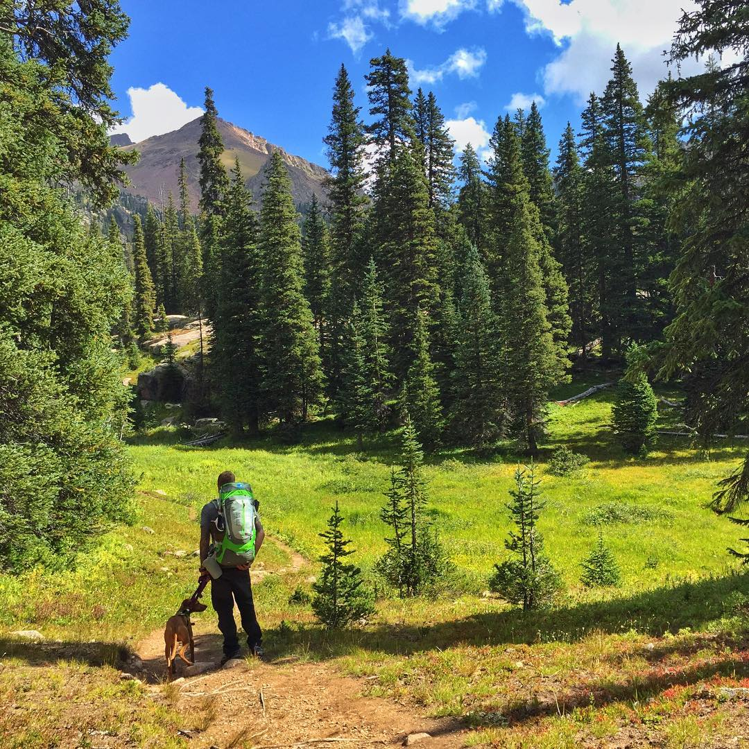 Our very own Jeff, meandering the Gore Creek Trail...I'm sure Al Gore takes credit for that one too. You too can look this cool if you adopt a dog from the animal shelter and buy an MHM Divide! #AlGore #GoreCreek #MHMgear #PacksElevated