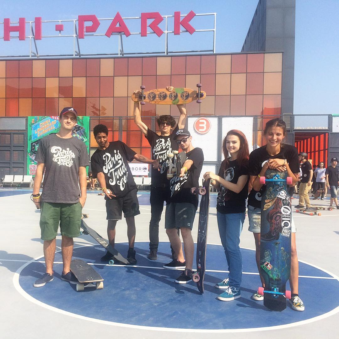 We made it to Hi-Park for the 5th Annual Longboard Carnival in Beijing! Crowds are rolling in and the skating is about to begin. It's gonna be a good day!  #pairstrucks #parisinbeijing #2016chinalongboardcarnival