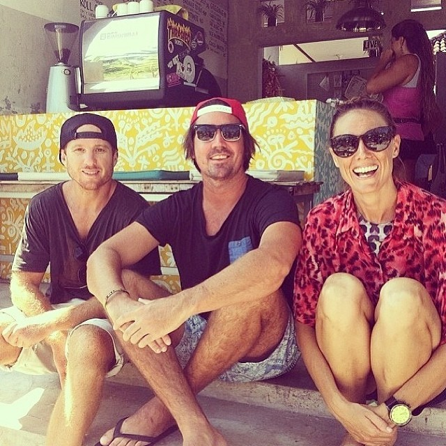 Fun sesh this am with Grant of @onewaveisallittakes and Dani of @saltgypsy good people doing good things #goodhumancrew  If you are in #Bali join Grant, Dani, us and the @onewaveisallittakes crew tomorrow morning at Old Mans in Canggu at 8 am or...
