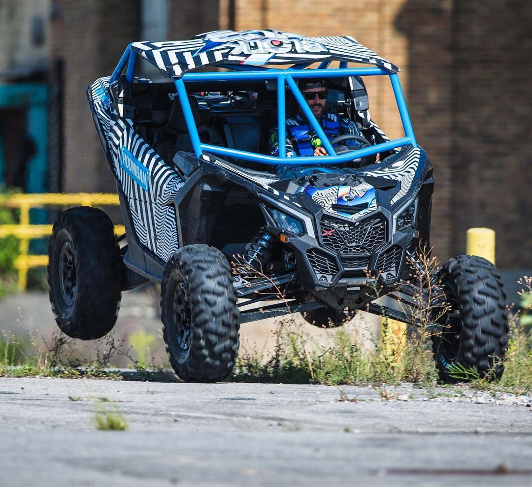 It was awesome having my new, customized @CanAm Maverick X3 X rs on set during #GymkhanaNINE filming last month. More about this thing soon! #maverickx3 #CanAm