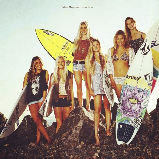Congrats to Good Human @alexxaelseewi1 for being featured in the new @saltedmagazine representing San Clemente's young rippers // That's Alexxa on the far left and at only 13 she is already an accomplished surfer and NSSA title holder plus she's a rad...
