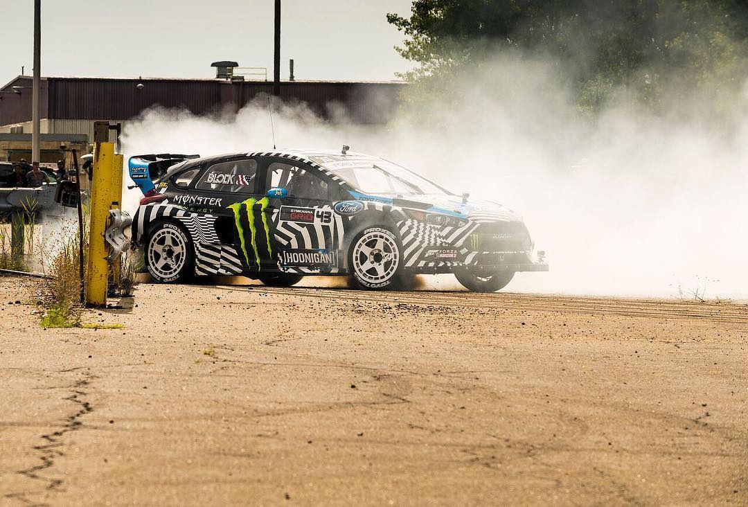 HHIC @kblock43 introducing the Ford Focus RS RX's rear bumper to the armco in #GymkhanaNINE! Hit the link in our bio to watch it now! #orwatchitagain #ortrollcomments