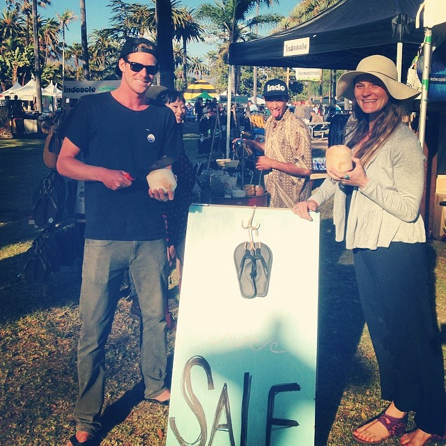 Santa Barbara Earth Day #1 - Indo's and Coco's taking over #santabarbara @beachbritty @farmer_steeeve @nickcarrel #santabarbaraearthday #soleswithsoul #balifornia