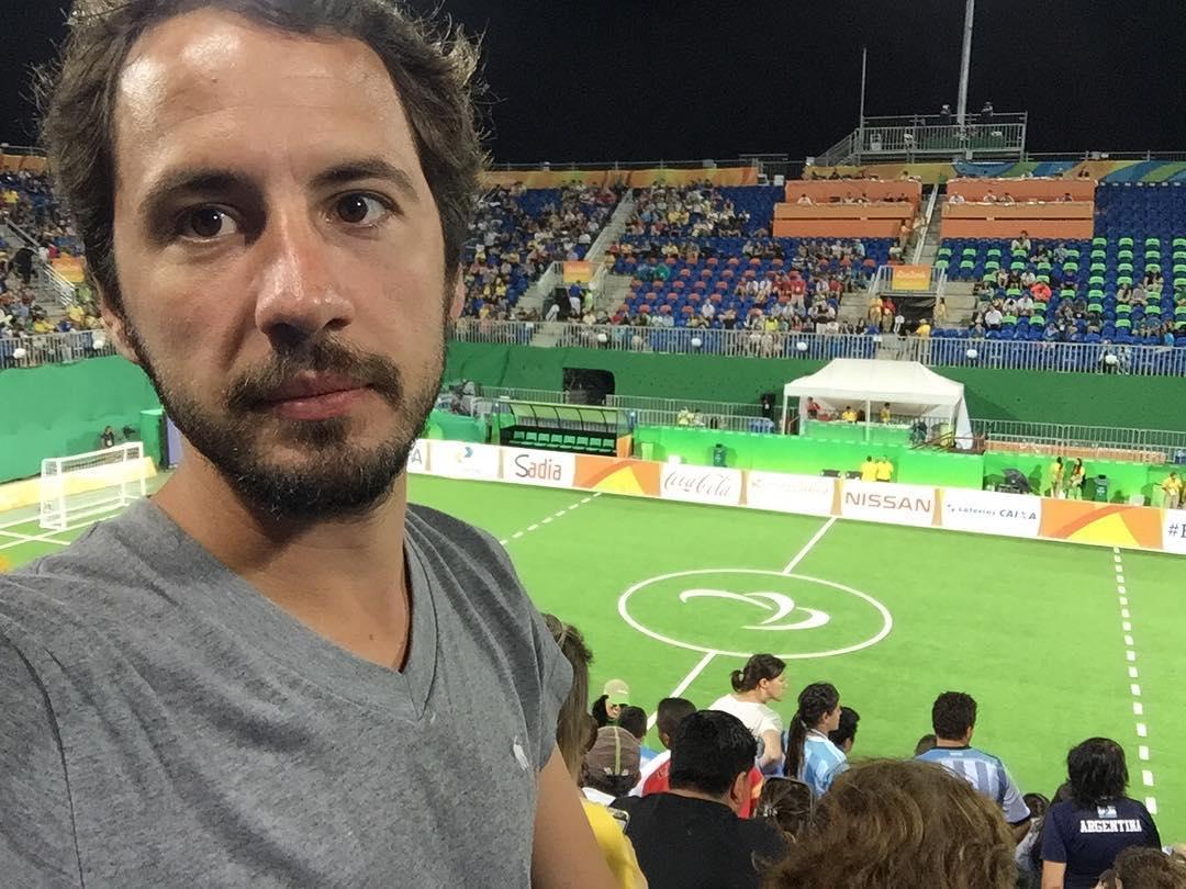 Hoy viendo a Los Murciélagos en el Parque Olímpico #Rio2016 #Paralympics #Work