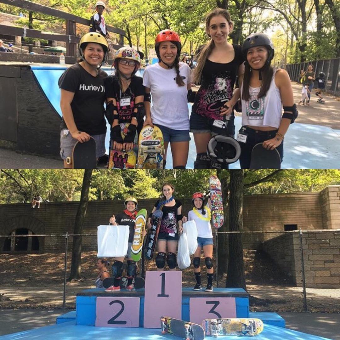 The ladies represented at the Riverside Skate Jam