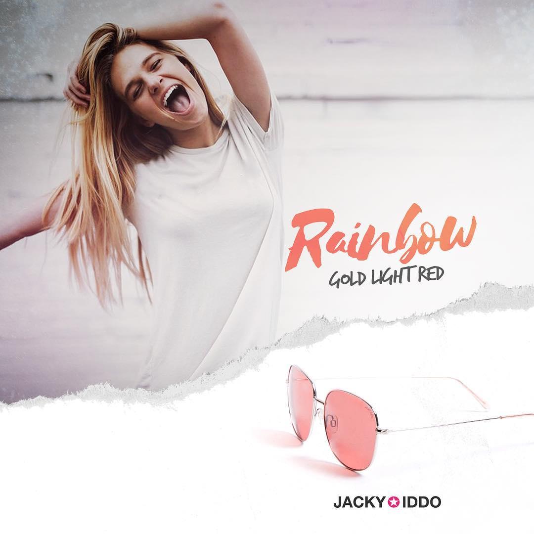 ✖︎ Rainbow Gold Light Red ✖︎ #urban #look #style #urbanstyle #lentes #anteojos #gafas #sunglasses #jackyiddo #actitudjacky