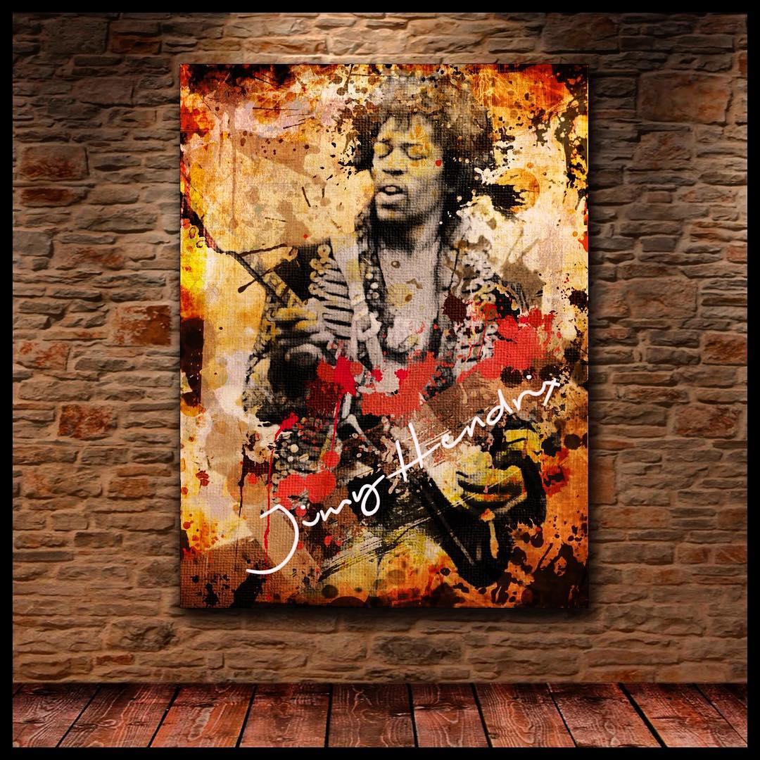 #cuadros #chilimango #musica #rock #deco #decoration #desing #diseño #jimihendrix #hendrix #guitar