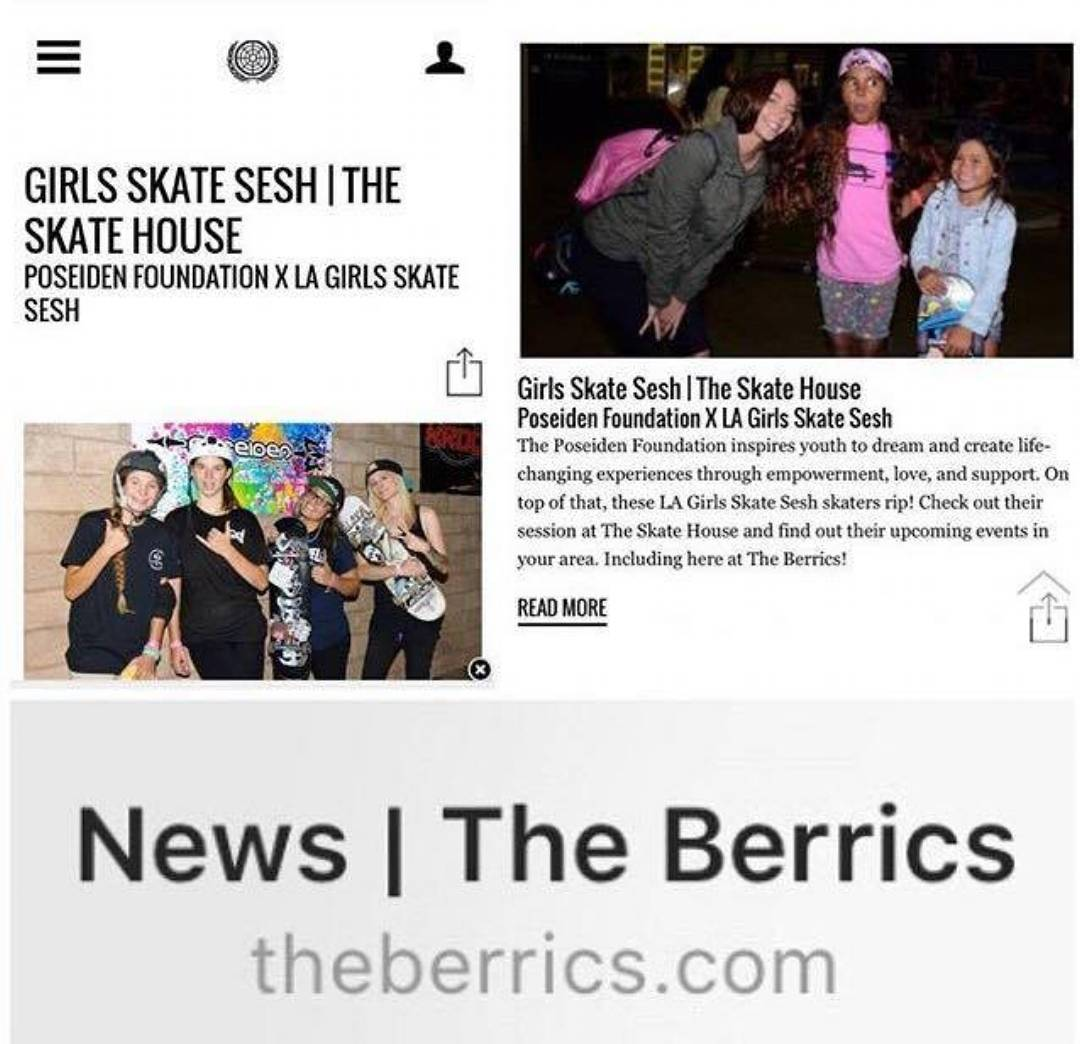 "@berrics recapped the @poseidenfoundation X @lagirlsskatesesh event hosted by @theskatehouse: ""People willing to play an active role in their communities will always be welcomed at The Berrics. So when The Poseiden Foundation and LA Girls Skate Sesh..."
