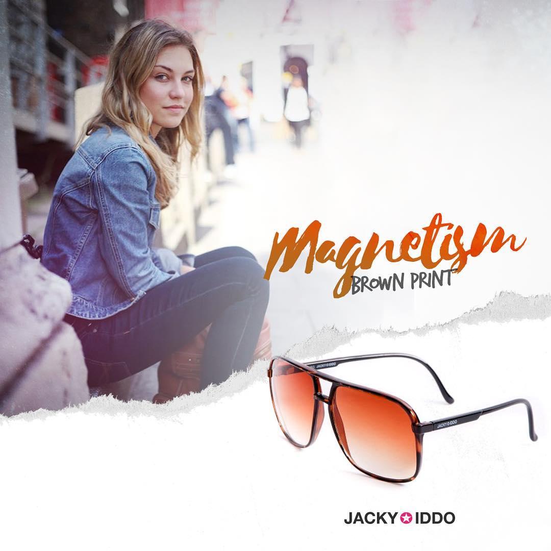 ✖︎ Magnetism Brown Print ✖︎ #urban #look #style #urbanstyle #lentes #anteojos #gafas #sunglasses #jackyiddo #actitudjacky