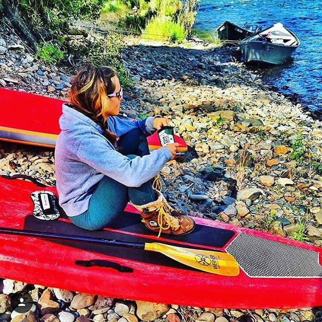 Enjoy the weekend y'all!! @naylanator enjoying some #PHGB trail mix before a SUP session! #snackwithpurpose