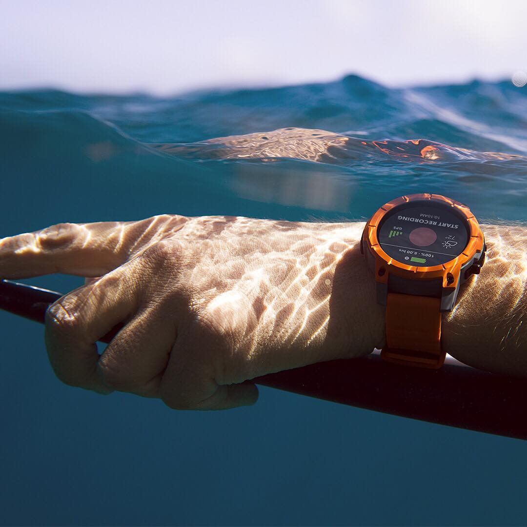 Surf smart. With groundbreaking water-resistant capabilities rated to 10 ATM (100 meters; 330 feet), The #Mission has the highest waterproof rating of any smartwatch on the market. #NixonMission