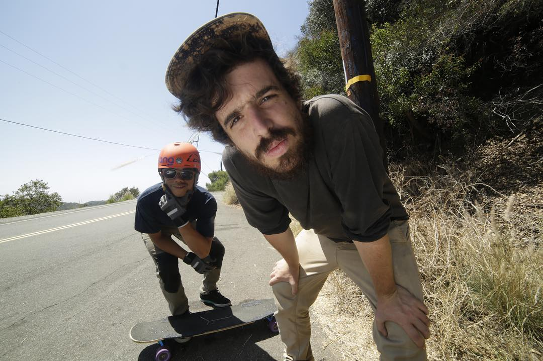 Two good friends, doing what they love.  #LoadedAmbassadors @dandoy_tongco and @perropro check on the camera before dropping in on a film run down a California classic.