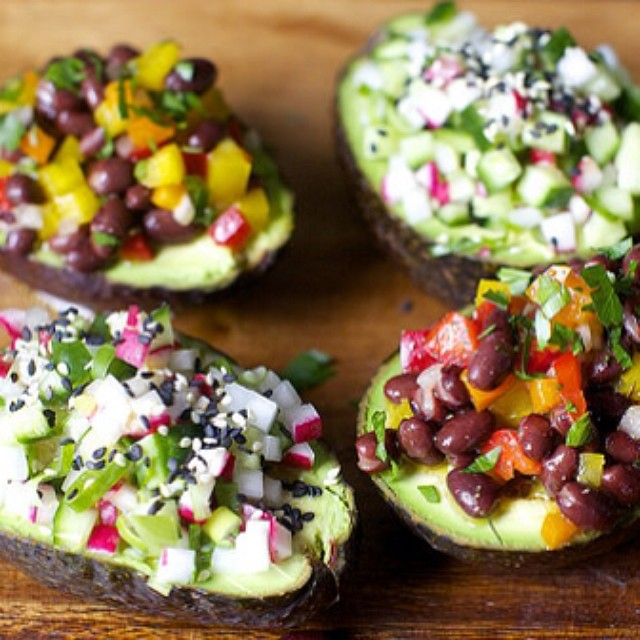 TASTY TUESDAYS // Avocado Cup Salads When it comes to avocados you could just give us a spoon and we'd go to town...but these little avocado cup salads are SUPER easy & healthy, and the best thing to happen to us, possibly ever.  Get the recipe for...