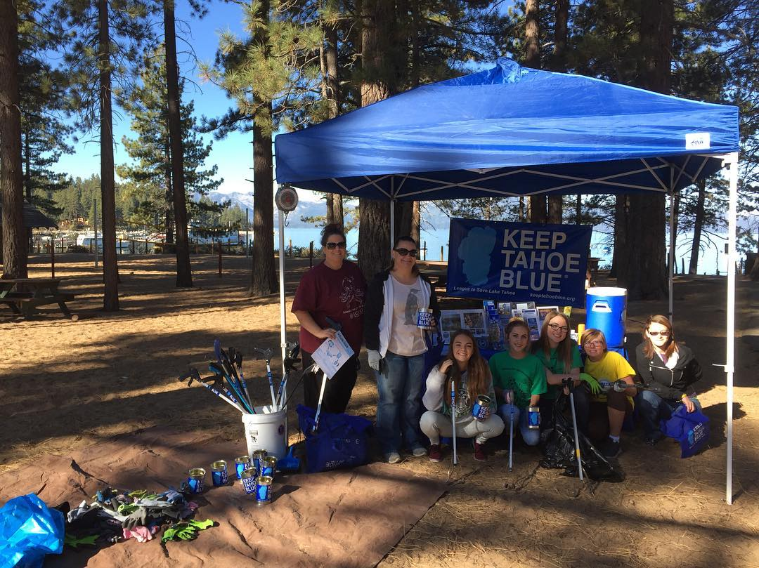 Happening now! Join us until noon at Zephyr Cove or 64 Acres in Tahoe City for the #greatsierrarivercleanup to protect our watershed. We have refreshments, prizes and cleanup equipment. Help #keeptahoeblue!