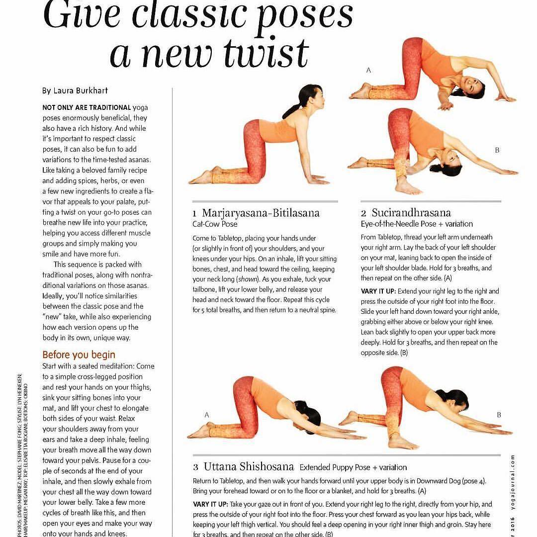 "#Repost @lauraburkhartyoga -- I'm honored to have written the home practice article for @yogajournal USA's October issues, ""Giving Classic Poses a New Twist"". You can pick up a copy at @wholefoods , newsstand, bookstore or airport! You can also read..."