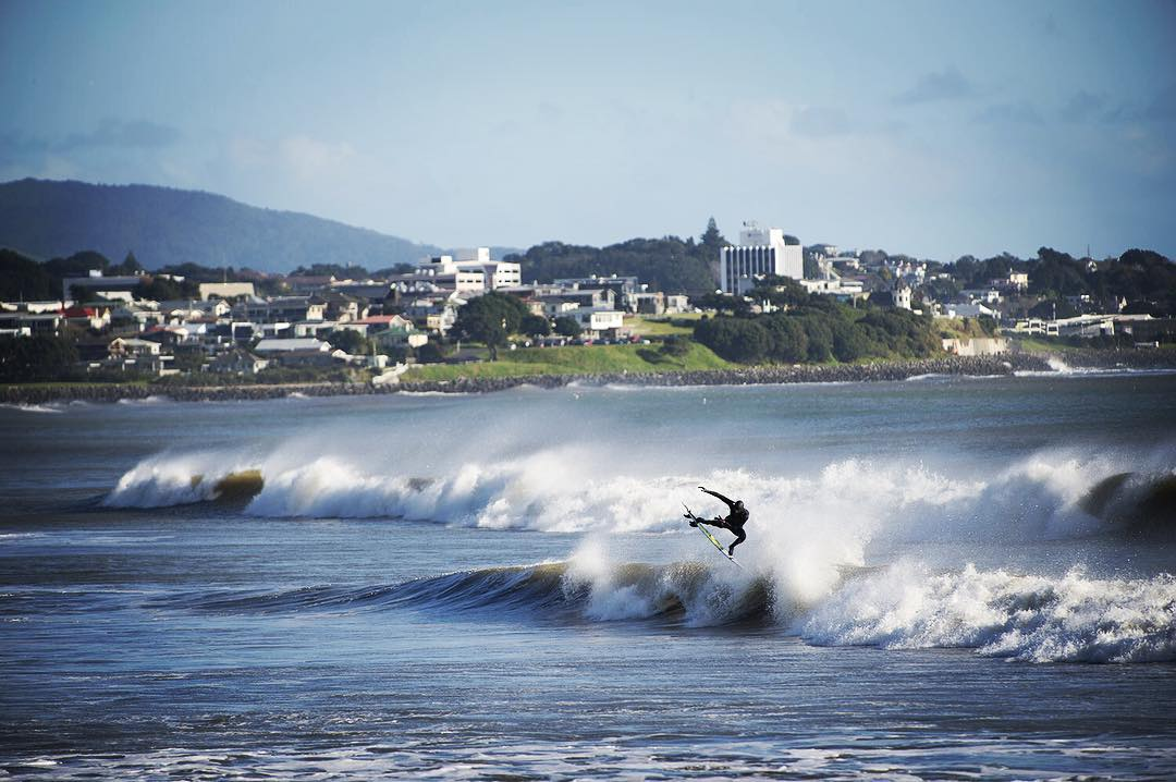 @jackfreestone pops one off in New Zealand. #Billabongwetsuits