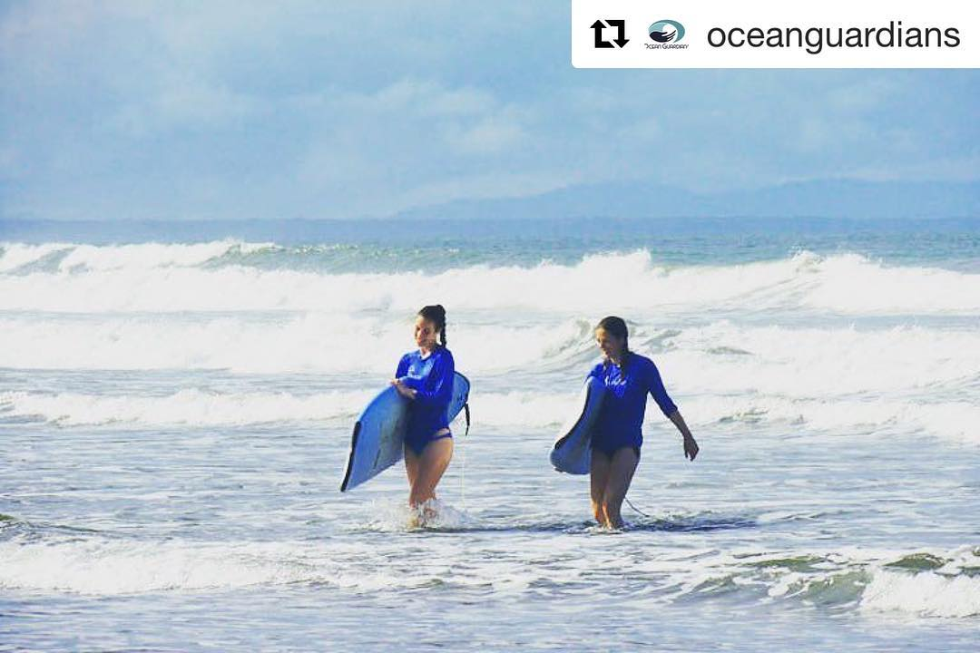 "#Repost @oceanguardians Meet Mathilde and Noemie, founders of the project ""Bracelets for Belugas"" and winners of the 2015 Ocean Guardian Contest. These two ladies joined us earlier this year to redeem their grand prize of a surf & yoga camp for two. We..."