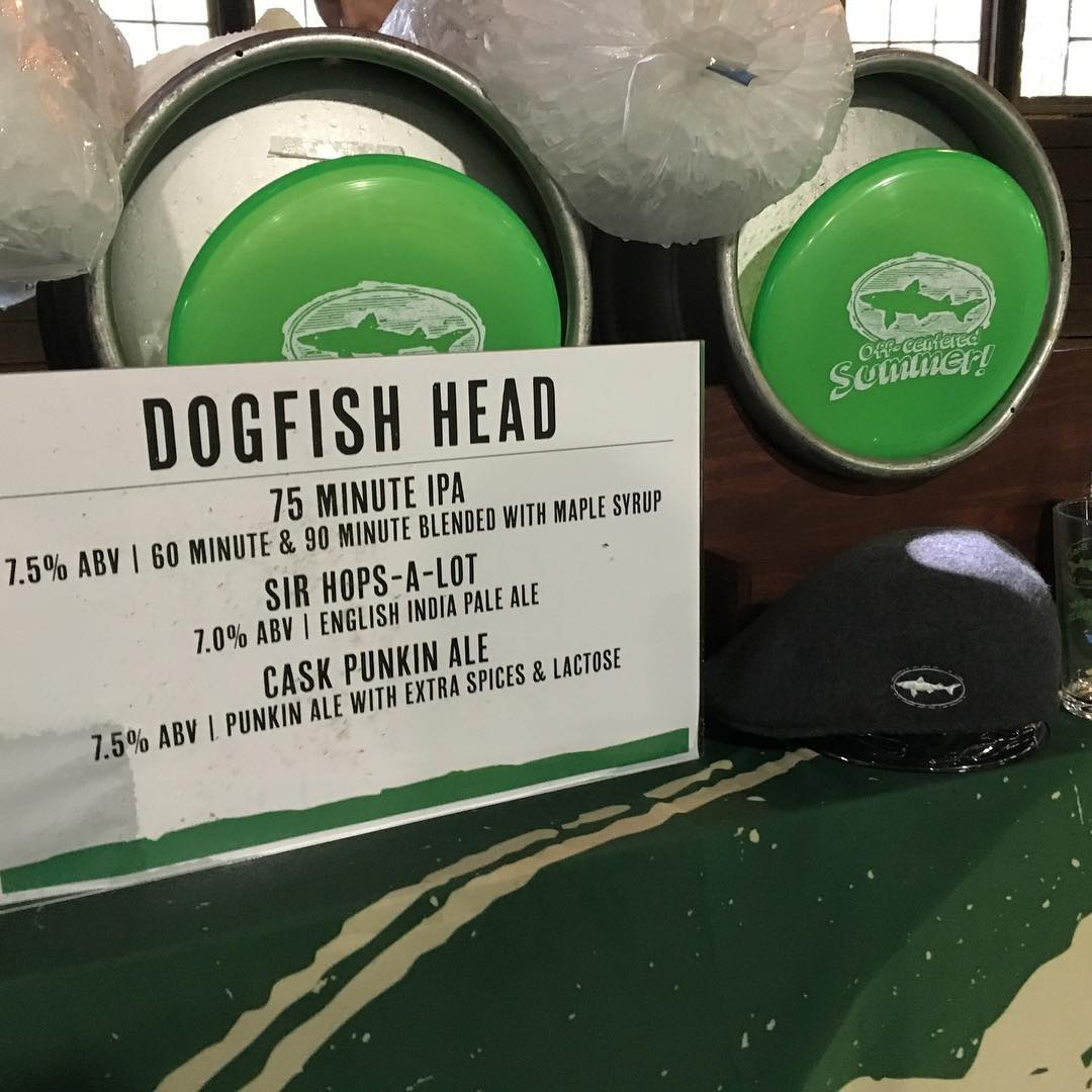 "The #Kangol x #dogfishhead ""Sir Hops a Lot"" IPA is chilled and ready to make its debut.... Only at #analogagogo"
