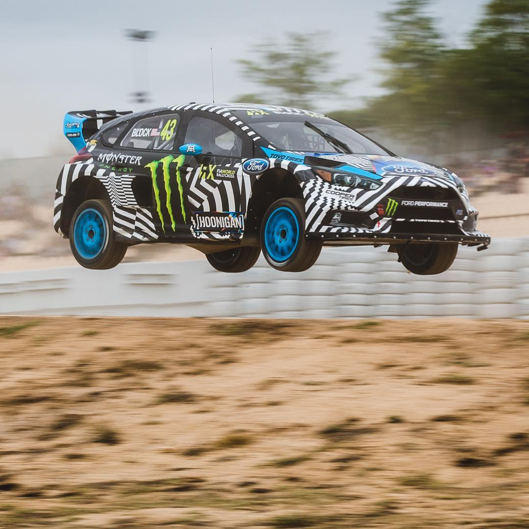 HHIC @kblock43 takes P1 in his Q4 heat race at #barcelonaRX! #neverlift