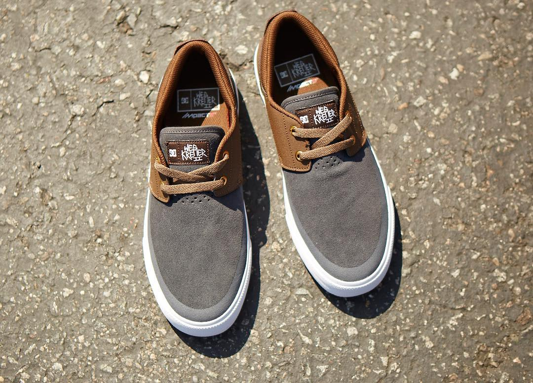 The #WesKremer 2, with a slip-on fit and IMPACT-S sockliner is a crowd favorite.  Get it now in Grey/Brown at a skateshop near you or at dcshoes.com/weskremer2. #DCShoes #WesWeCan