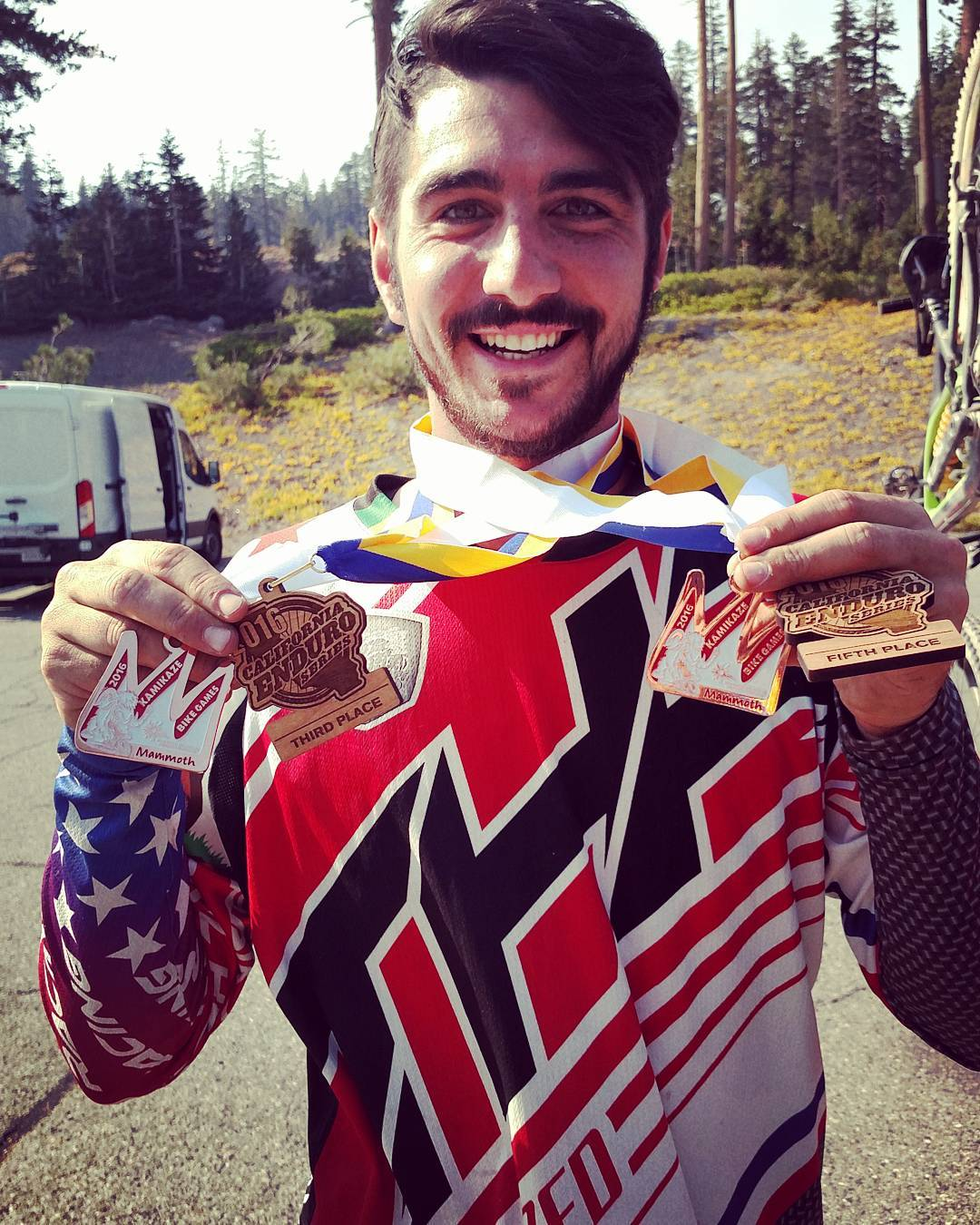 Lots of #hardware made wrapping up the weekend nicely! The #kamikazebikegames were a blast! @Ashton_MTB