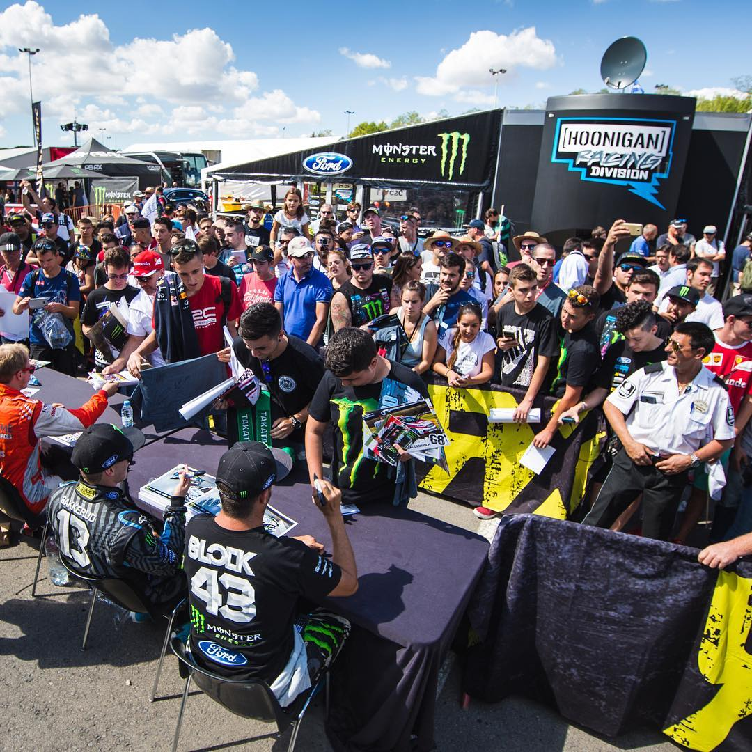 Big thanks to the fans out here at #BarcelonaRX for coming out and cheering me on, even though luck wasn't on my side this weekend. Always stoked to see so much support for the team and I! #bestfans #fandemonium @FIAWorldRX